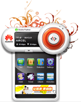 Huawei Mobile Partner Skin - Flower Skin