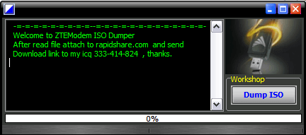 Download Latest ZTE ISO Dumper to create ISO of your ZTE modem connection manager