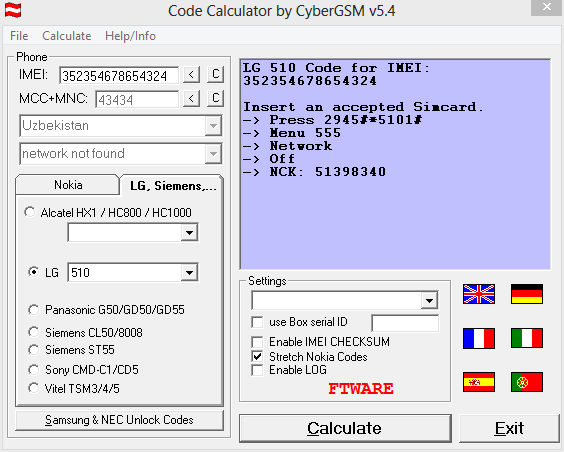 POUR 5.4 CALCULATOR WINDOWS CODE DCT4 TÉLÉCHARGER