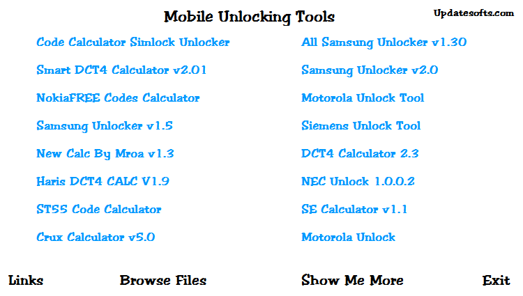 Download Mobile Unlocking Tools to Unlock Any Mobile Phones for Free
