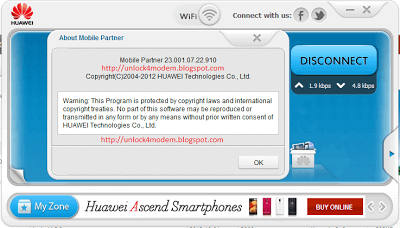 Download v23 001 07 22 910 Huawei WiFi Mobile Partner Free