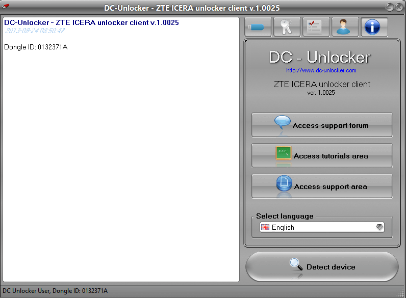 Download DC Unlocker - ZTE Icera Unlocker Client software