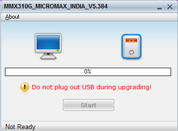 Micromax MMX310G firmware upgrade
