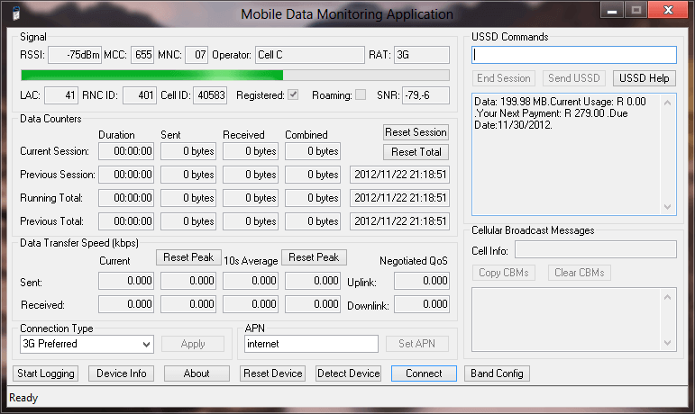 MDMA - a Mobile Data Monitoring Application version 1.1.0.1