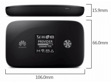 Dimension of Huawei E5786 WiFi Router