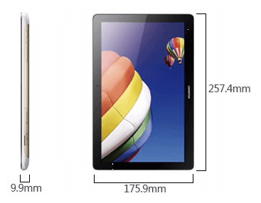 Huawei MediaPad 10 Link + Tablet Dimension