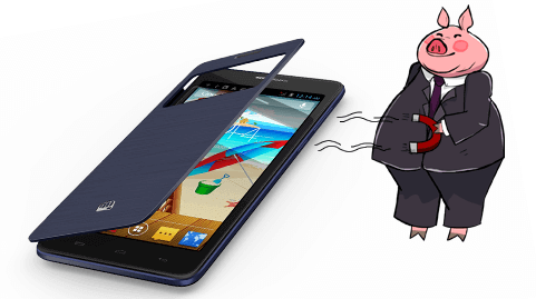 Micromax Canvas Doodle 3 Phablet - Magnetic Cover