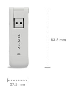 Alcatel OneTouch X310 USB Data Card Dimension