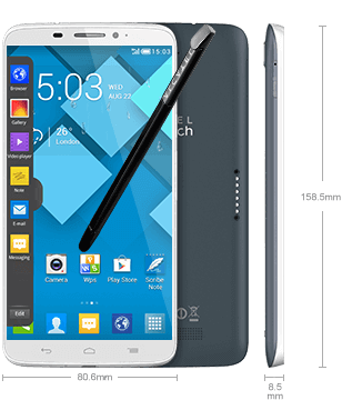 Alcatel Onetouch Hero Android Smartphone - Dimensions