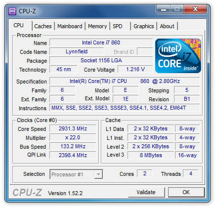 CPU-Z Freeware Software