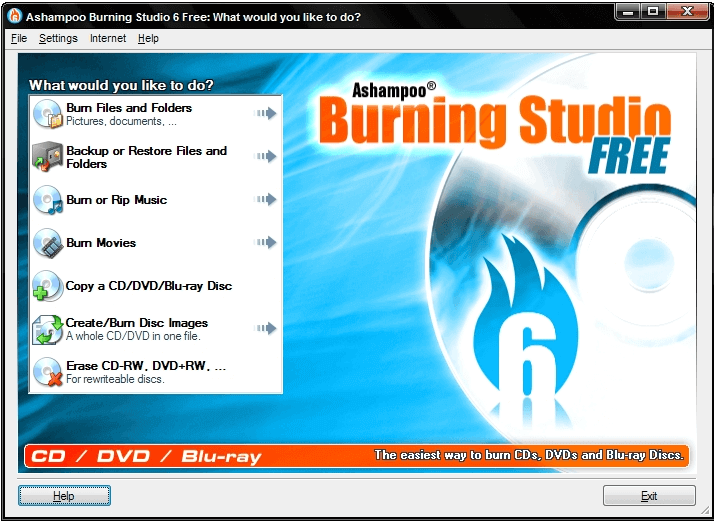 Ashampoo Burning Studio 6 free for Windows 8