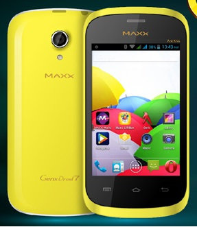 Maxx GenxDroid7 AX356 Dual-SIM Android Smartphone Launched at Rs 3696
