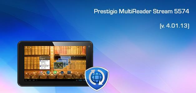 Download firmware update v4.01.13 for Prestigio MultiReader Stream 5574