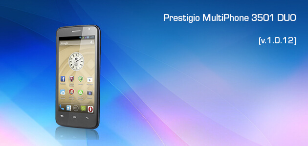 Firmware Update of Prestigio Multiphone 3501 DUO