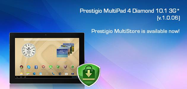 New Firmware v1.0.06 for Prestigio MultiPad 4 Diamond 10.1 3G