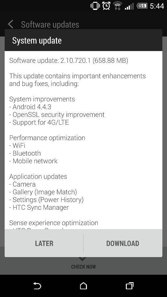 Update HTC One (M8) with Android 4.4.3