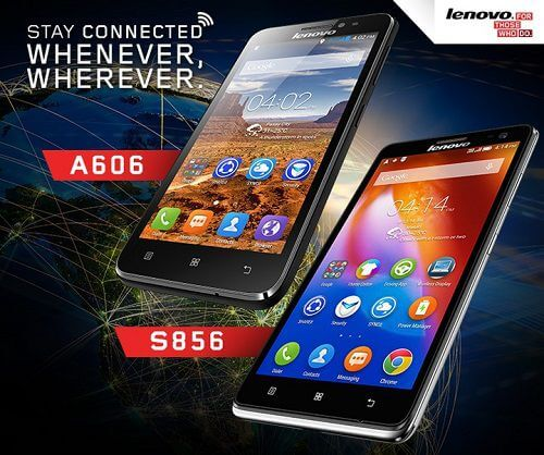 Lenovo A606 and S856 LTE Smartphone in Philippines