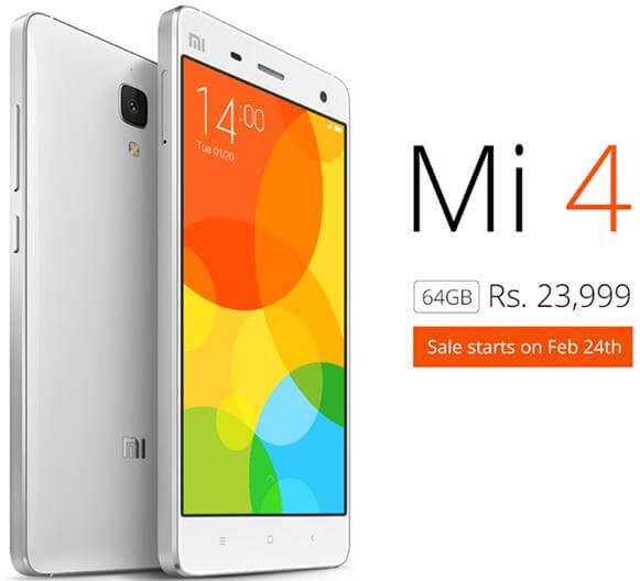 Xiaomi Mi 4 with 64GB storage