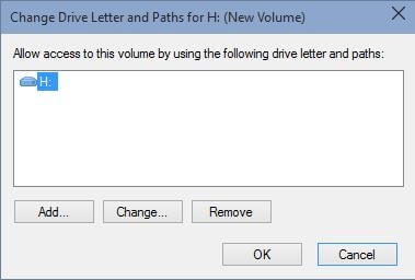 Change drive letter and paths of volume