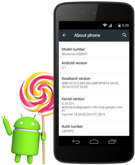 Micromax Canvas A1 Lollipop Update