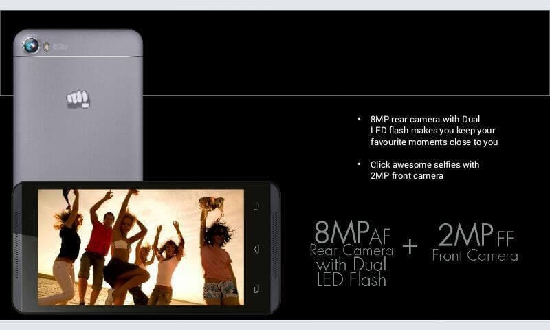Micromax Canvas Fire 4 A107 - Front and Back