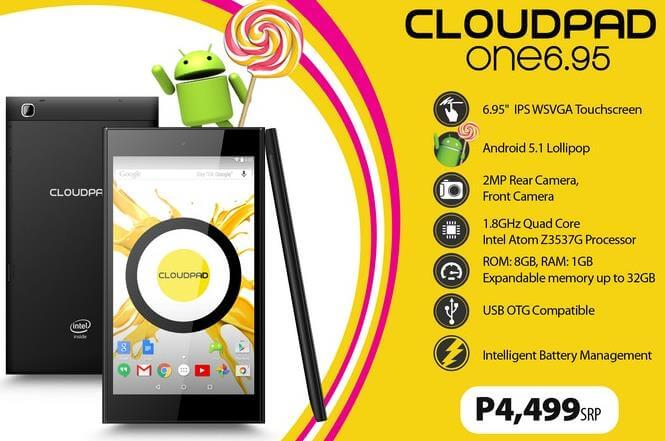 CloudFone CloudPad One 6.95