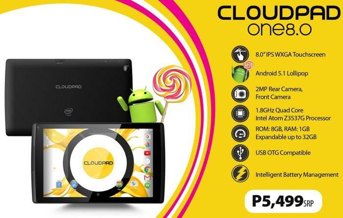 CloudFone CloudPad One 8.0