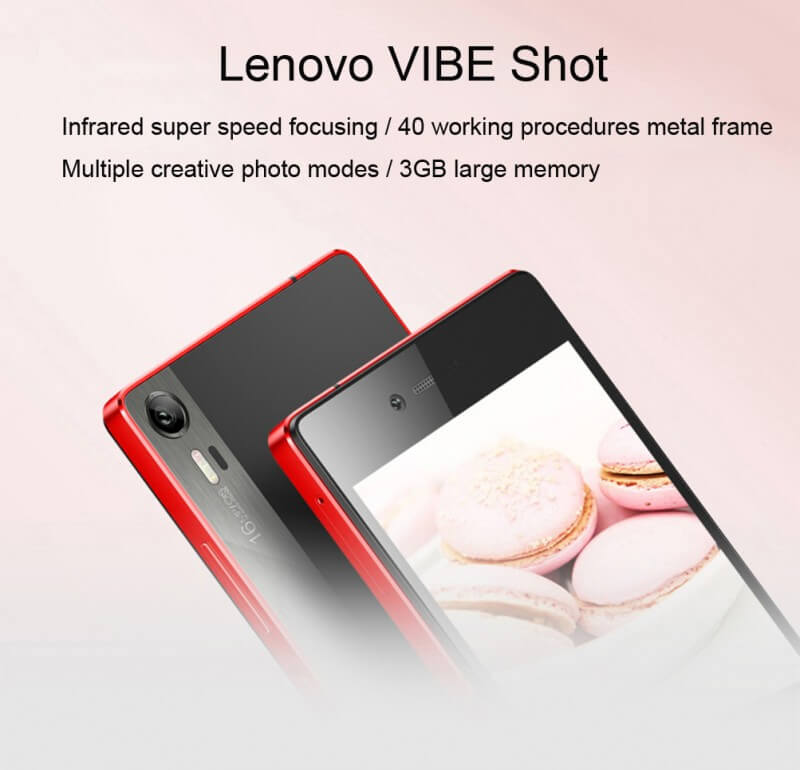 Lenovo Vibe Shot - red