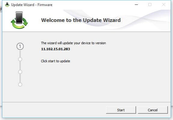 MTS EC306 firmware update wizard