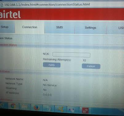 Alcatel Y600 locked to Airtel Ghana