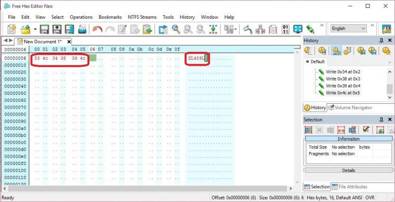 Hex Editor Neo - generating of Hex values