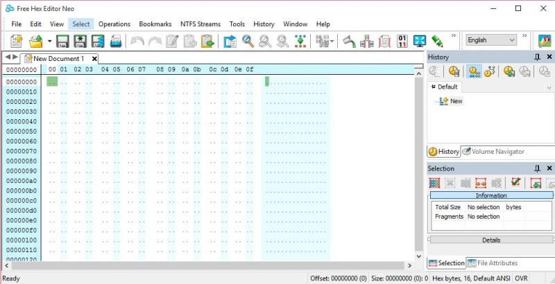 Hex Editor Neo - two parts