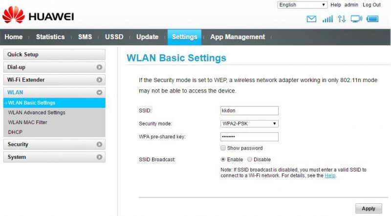 WLAN - WLAN Basic Settings