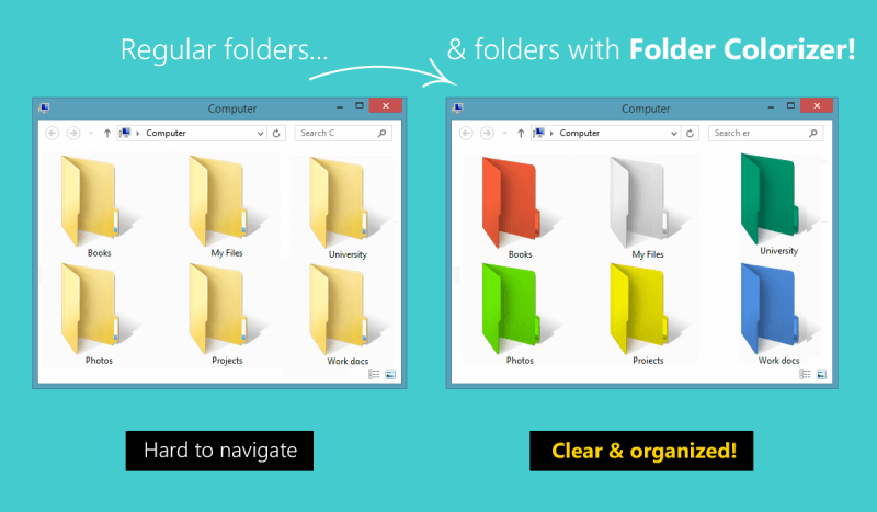 Folder Colorizer - colors changed