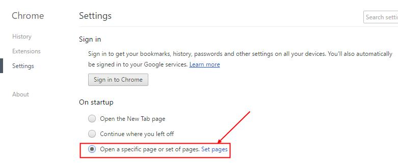 Open a specific page or set of pages
