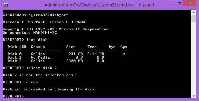 cleaning-of-usb-disk
