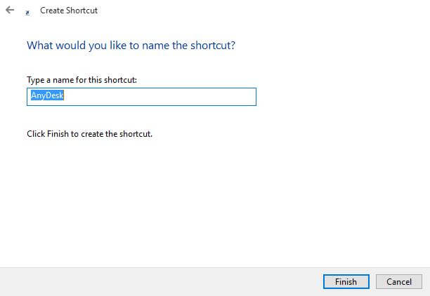 rename-of-shortcut